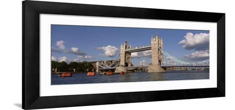 Bridge Over a River, Tower Bridge, Thames River, London, England, United Kingdom--Framed Art Print