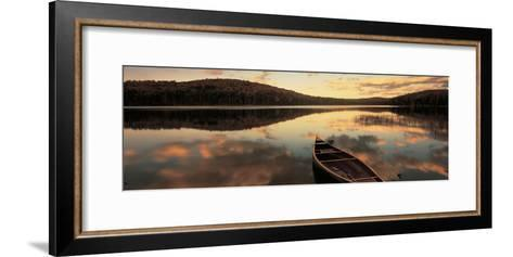 Water and Boat, Maine, New Hampshire Border, USA--Framed Art Print