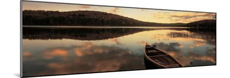 Water and Boat, Maine, New Hampshire Border, USA--Mounted Photographic Print