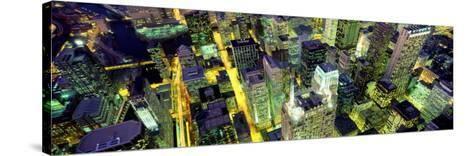 Night, Chicago, Illinois, USA--Stretched Canvas Print