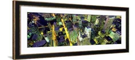 Night, Chicago, Illinois, USA--Framed Art Print
