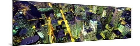 Night, Chicago, Illinois, USA--Mounted Photographic Print
