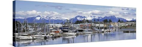 View of Boats Stationed on a Harbor, South Harbor, Petersburg, Alaska, USA--Stretched Canvas Print