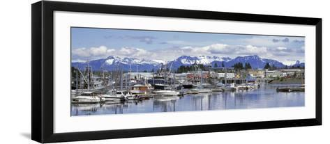 View of Boats Stationed on a Harbor, South Harbor, Petersburg, Alaska, USA--Framed Art Print