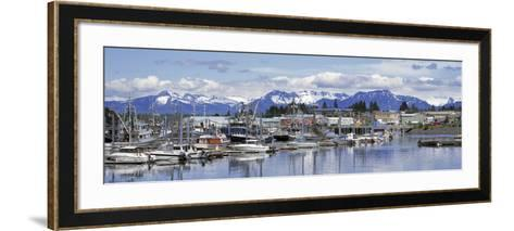 View of Boats Stationed on a Harbor, South Harbor, Petersburg, Alaska, USA--Framed Art Print