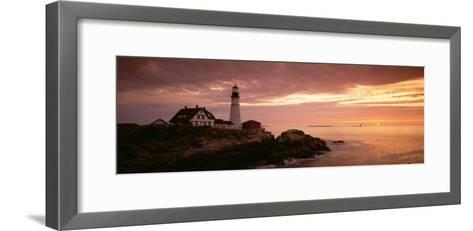 Portland Head Lighthouse, Cape Elizabeth, Maine, USA--Framed Art Print