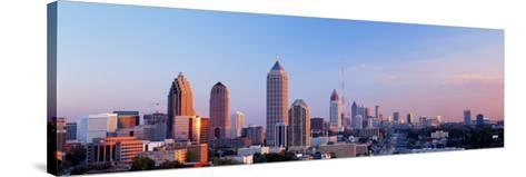 Twilight, Skyline, Atlanta, Georgia, USA--Stretched Canvas Print