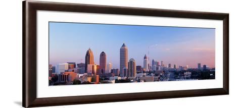Twilight, Skyline, Atlanta, Georgia, USA--Framed Art Print