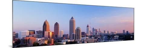 Twilight, Skyline, Atlanta, Georgia, USA--Mounted Photographic Print