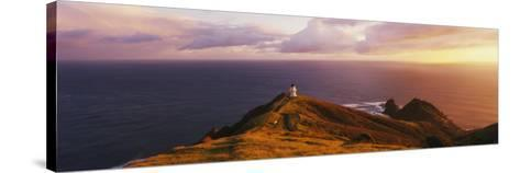 Lighthouse on Cape Reinga, Northland, New Zealand--Stretched Canvas Print