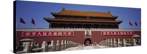 Facade of a Building, Tiananmen Square, Beijing, China--Stretched Canvas Print