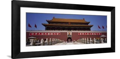 Facade of a Building, Tiananmen Square, Beijing, China--Framed Art Print