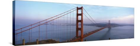 Traffic on a Bridge, Golden Gate Bridge, San Francisco, California, USA--Stretched Canvas Print