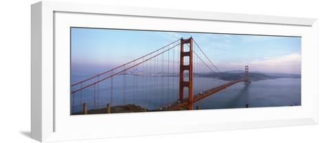 Traffic on a Bridge, Golden Gate Bridge, San Francisco, California, USA--Framed Art Print