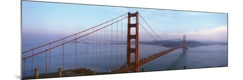 Traffic on a Bridge, Golden Gate Bridge, San Francisco, California, USA--Mounted Photographic Print