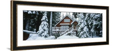 Snow Covered Chalet, Lake Tahoe, California, USA--Framed Art Print