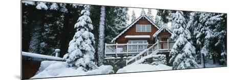 Snow Covered Chalet, Lake Tahoe, California, USA--Mounted Photographic Print