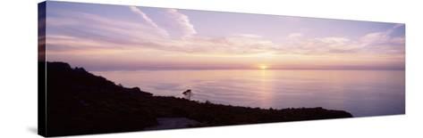 Mediterranean Sea, Sunset--Stretched Canvas Print