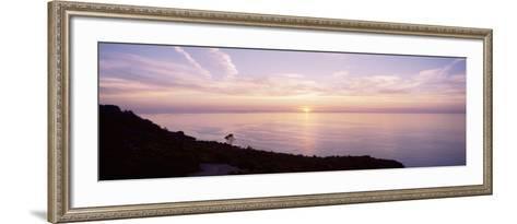 Mediterranean Sea, Sunset--Framed Art Print