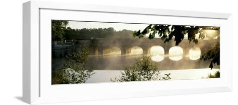 Stone Bridge in Fog, Loire Valley, France--Framed Art Print