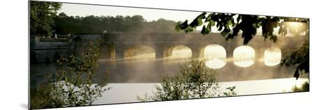 Stone Bridge in Fog, Loire Valley, France--Mounted Photographic Print