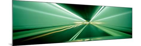 Drivers Perspective in Tunnel, Blurred Motion--Mounted Photographic Print