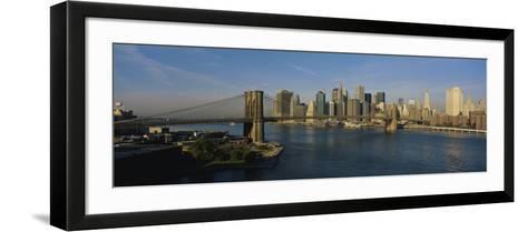 Bridge Across a River, Brooklyn Bridge, New York City, New York State, USA--Framed Art Print