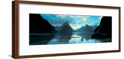 South Island, Milford Sound, New Zealand--Framed Art Print