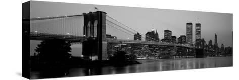 Brooklyn Bridge, Manhattan, New York City, New York State, USA--Stretched Canvas Print