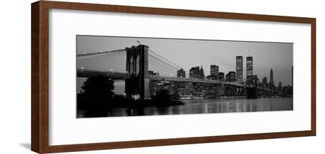 Brooklyn Bridge, Manhattan, New York City, New York State, USA--Framed Art Print