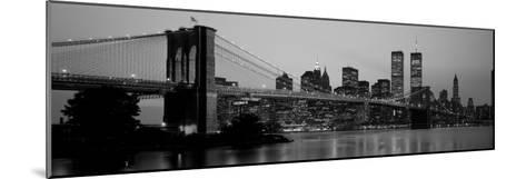 Brooklyn Bridge, Manhattan, New York City, New York State, USA--Mounted Photographic Print