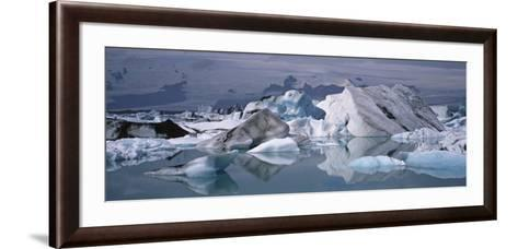 Glacier Floating on Water, Vatnajokull Glacier, Iceland--Framed Art Print