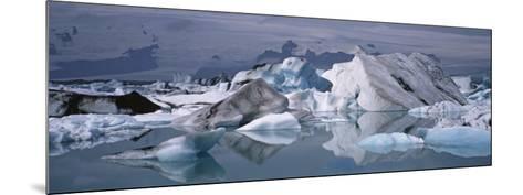 Glacier Floating on Water, Vatnajokull Glacier, Iceland--Mounted Photographic Print