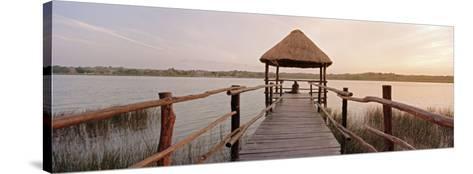 Dock and Lake, Villa Arqueologica, Coba, Quintana Roo, Mexico--Stretched Canvas Print