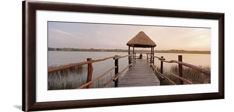 Dock and Lake, Villa Arqueologica, Coba, Quintana Roo, Mexico--Framed Art Print
