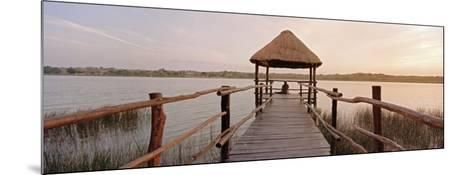 Dock and Lake, Villa Arqueologica, Coba, Quintana Roo, Mexico--Mounted Photographic Print