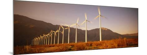 Wind Turbines in a Row, Palm Springs, California, USA--Mounted Photographic Print