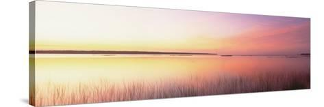 Sunrise, Lake Michigan, Door County, Wisconsin, USA--Stretched Canvas Print
