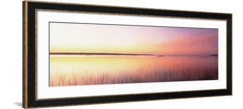 Sunrise, Lake Michigan, Door County, Wisconsin, USA--Framed Art Print
