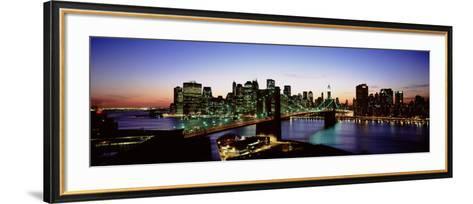 High Angle View of Brooklyn Bridge, New York City, New York State, USA--Framed Art Print
