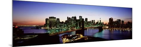High Angle View of Brooklyn Bridge, New York City, New York State, USA--Mounted Photographic Print