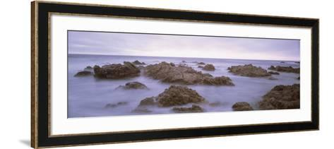 Rock Formation on the Coast, Mendocino, California, USA--Framed Art Print