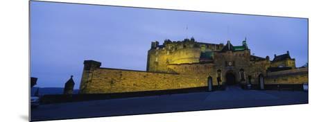 Castle Lit Up at Dusk, Edinburgh Castle, Edinburgh, Scotland, United Kingdom--Mounted Photographic Print