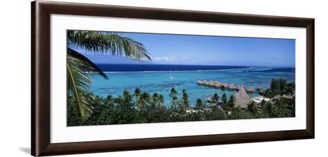 High Angle View of Beach Huts, Kia Ora, Moorea, French Polynesia--Framed Art Print