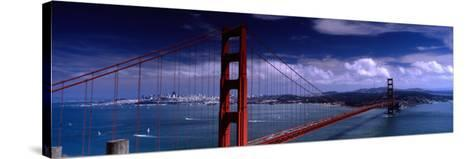 Bridge Over a River, Golden Gate Bridge, San Francisco, California, USA--Stretched Canvas Print
