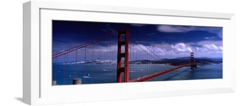 Bridge Over a River, Golden Gate Bridge, San Francisco, California, USA--Framed Art Print