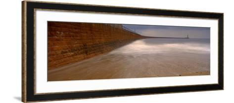 Surrounding Wall Along the Sea, Roker Pier, Sunderland, England, United Kingdom--Framed Art Print