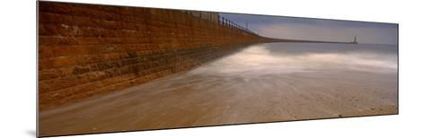 Surrounding Wall Along the Sea, Roker Pier, Sunderland, England, United Kingdom--Mounted Photographic Print