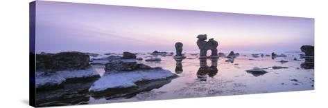 Rocks on the Beach, Faro, Gotland, Sweden--Stretched Canvas Print