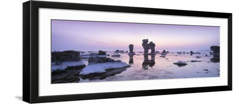 Rocks on the Beach, Faro, Gotland, Sweden--Framed Art Print